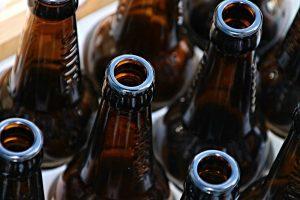 beer bottles, bottles, empty